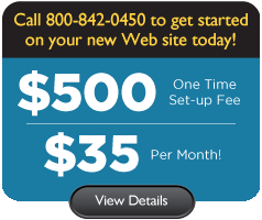 $500 One Time Set-up Fee - $35 Per Month!